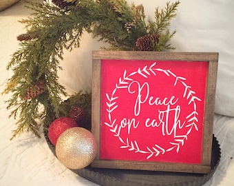 Peace on Earth Christmas sign