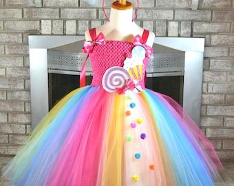 Candy Shop Tutu, Candy Dress, Sweet Shop Outfit, Candy Birthday, Candy Shop Birthday, Candy Costume, Lollipop Tutu, Lollipop Dress