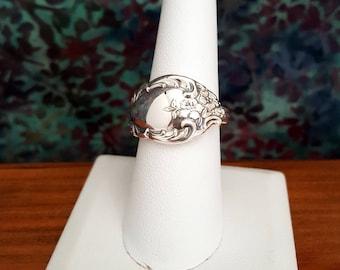 Heirloom Sterling by Oneida Silver Spoon Ring -EB660