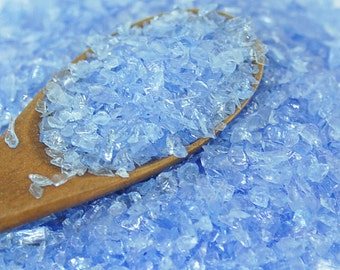 40g - Scrap Glass for crafts- Ice Blue - made in USA