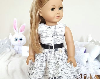 18 inch doll Paris dress