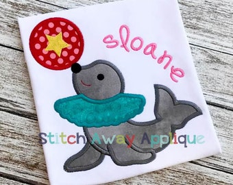 Circus Seal Machine Applique Design