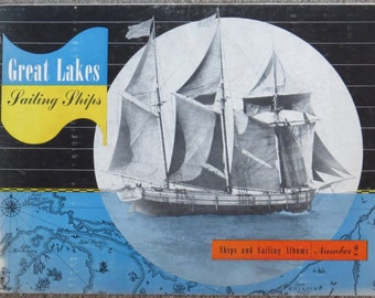 """Reduced! Great lakes Sailing Ships Book 2 of the series """"The Ships and Sailing Albums"""", Published by Kalmbach Publishing Co."""
