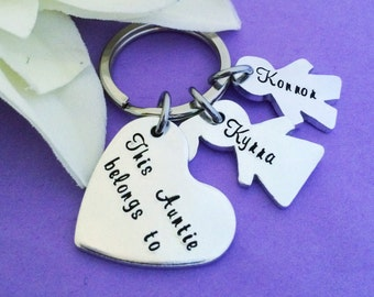 Christmas Gift - Hand Stamped Mom Keychain - Personalised Keyring - Gift for Nan - Gift for Dad - Gift for Mum - Mummy Keyring - Birthday