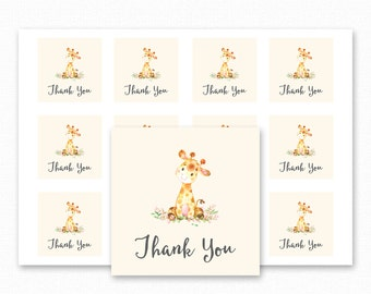 Giraffe Baby Shower Printable Favor Tag - Giraffe Baby Shower Thank You Tag - Giraffe