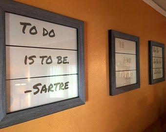 3 pc. Black or Gray Wood Framed Quotes