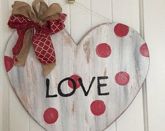 Rustic Valentine , Heart , valentine Door hanger, valentine wreath, rustic decor, rustic heart, valentine decor, valentines day