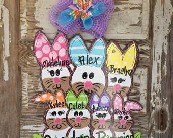 Easter Door Hanger - Personalized Door Hanger - Spring Door Hanger - Personalized Door Decor - Easter Decorations