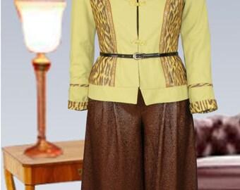 Short jacket green with Leomuster, Isadora. UK16, US14