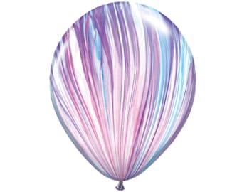 Fashion Marble Balloons - Purple / Pink / Light Blue / Pastel / Rainbow