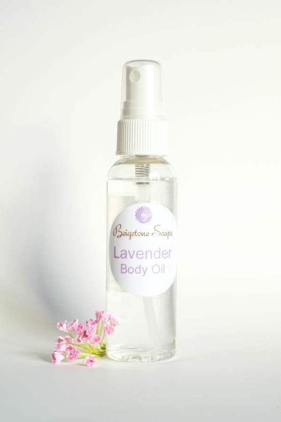 Lavender Body Oil | 2oz Spray | Non-Greasy | Leaves Skin Soft and Hydrated