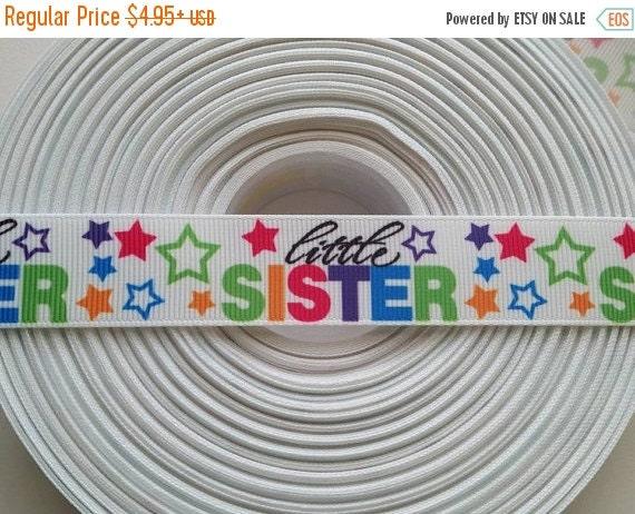 "HOT DEAL Little Sister 7/8"" 22mm Grosgrain Hair Bow Craft Ribbon 782469"