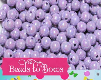 10mm Purple AB Bubblegum Beads,  Chunky Bubblegum Beads, Gumball Beads, Acrylic Beads, Fairy Kawaii Bead, Chunky Bubblegum Bead, Chunky Bead