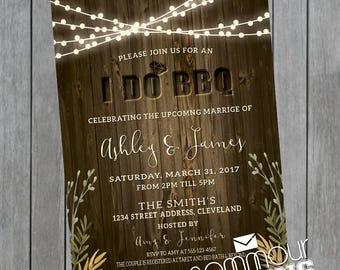 I Do BBQ Invitation - I Do BBQ Couples Shower - I Do BBQ Engagement - Bbq Invitation