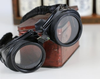 SALE Steampunk Goggles Welding Goggles 1900's Goggles with Original Box Amazing Items!