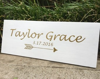 Modern Custom Name & Date Board