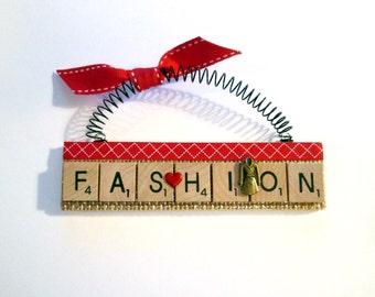 Love Fashion Scrabble Tile Ornament
