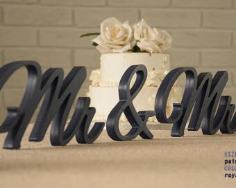 Mr & Mrs Royal Blue Sweet Heart Table Sign, Sweetheart table, Reception, Bridal Decoration