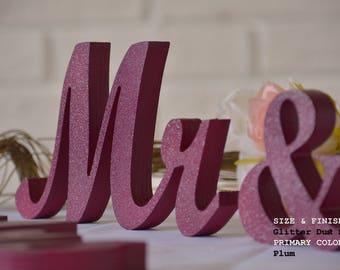 wedding sign plum mr & mrs, mr and mrs sign, mr and mrs wall decor, mr and mrs table sign, mr and mrs wedding gift