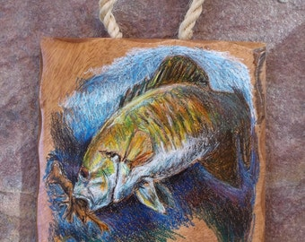 smallmouth bass plaque