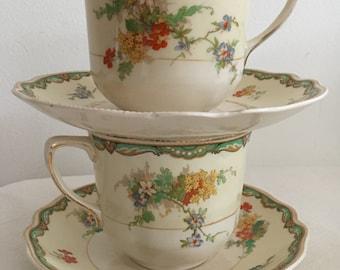 Ningpo Johnson Brothers England Old Staffordshire Set of Two Teasets (2)