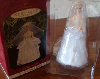 Hallmark Keepsake Ornament Wedding Day Barbie 4th in Collector's Series 1997