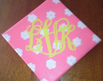 5x7 Painted Monogram Canvas