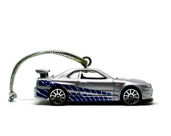 Fast and Furious Nissan Skyline GT-R (R34) Hot Wheels Car Ornament