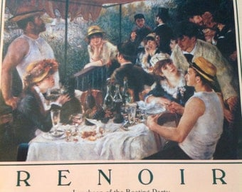 """Renoir Print of """"The Boating Party"""".....vintage .....gold frame"""