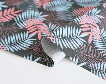 Waterproof Fabric Leaf Pink By The Yard