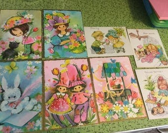Vintage greeting cards 70's Pastel Pleasures ephemera