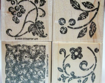 Decorative Floral Rubber Stamps, Floral Rubber Stamps, Card Making, Scrapbooking, Stamp Supplies, Decorative Rubber Stamp, Stampin' Up