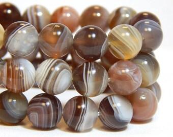 8mm Botswana Agate, Grade A, Full Strand, 8mm Agate, Natural Beads, Botswana Beads , Round Gemstones, 8mm Gemstones, Natural Agate, B-30B