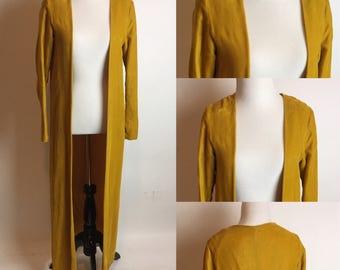 O/S 1930s Mustard Velvet Duster Jacket