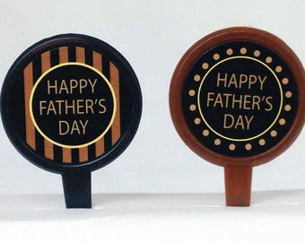 12 Happy Father's Day Cupcake Picks Toppers Party Favors