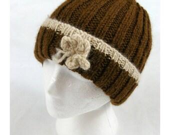 Embellished Hat Brown-Cream