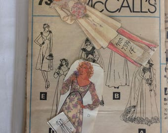 Vintage McCalls Sewing Pattern #7394, Size 14, Priscilla
