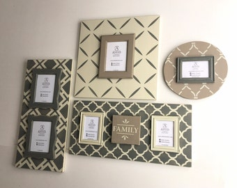 Cedar & Ash Collection: 4 Piece Gallery Wall Frame Set. Unique Magnetic Picture Frames | Custom Painted Photo Frames | Neutral Wall Decor