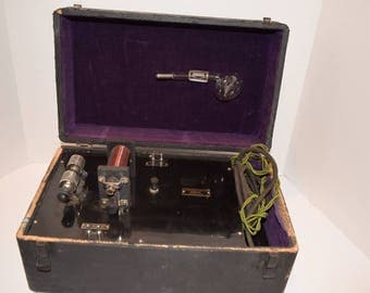 "Antique 1920""s ""Beadon-Dun"" VIOLET RAY Ultraviolet Therapy Quack Medical Device"