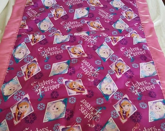 Handmade sisters blanket - naptime blanket - baby shower gift - lap blanket -daycare blanket - kids blanket -handmade blanket - pink blanket