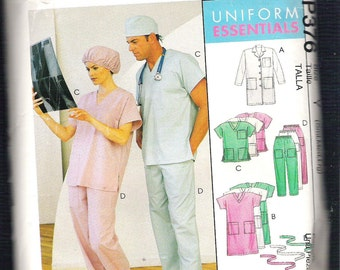 McCall's 376, UNIFORM ESSENTIALS, Sewing Pattern, Sizes Sml, Med, Lrg, Bust or Chest Sizes 31 to 40, Uncut, No Directions