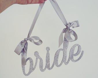 Bride Chair Sign // Bridal Shower Chair // Chair Banner // Bachelorette Sign // Bride To Be Sign // Bride and Groom Sign