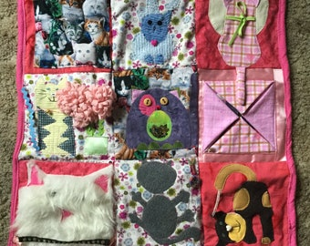 Sensory Blanket- Fidget Quilt- Weighted Blanket- Cats- Example Not for Sale