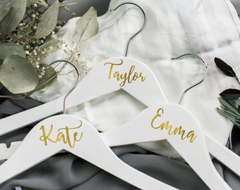 Personalized bridesmaid hanger/bride hanger/personalized hanger/bridal party hanger/bridal hanger/customized hanger/name hanger/dress hanger