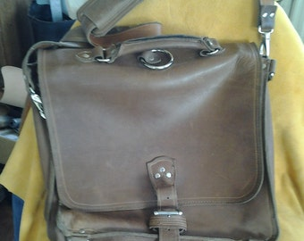 Leather Messenger Bag or Satchel