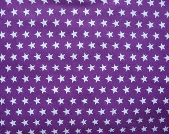 Fabric - Jersey fabric - Purple small star print knit - Cotton/elastane