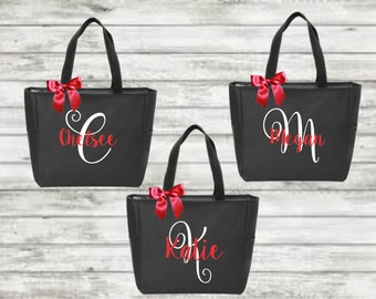 bridal totes, bridal bags, monogrammed tote, bridesmaid gift, bridesmaid tote, wedding gift,