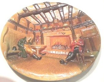 """Bossons Congleton England Vintage Plaque 14""""  """"An Old English Tavern""""  1950's"""
