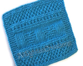 Dish Cloth, Blue Hearts Wash Cloth,Only Available at AllSylviasCreations, Gift, Eco Friendly,Cotton Kitchen Cloth, Gift for Him or Her