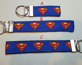 key fob, wristlet, keychain, lanyard - Superman -M1660